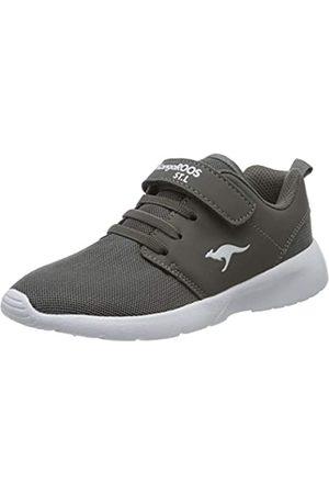 KangaROOS Unisex-Kinder Hinu EV Sneaker, (Steel Grey 2005)