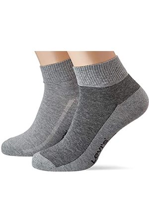 Levi's Herren Levis 168SF MID Cut Micro Stripe 2P Socken, Mehrfarbig (Anthracite Melange/Black 267)