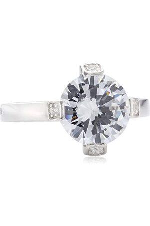 MERII Damen-Ring 925 Sterlingsilber rhodiniert Zirkonia Gr. 50 (15.9) M0344R/90/03/50