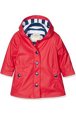 Hatley Mdchen Splash Jacket-Red (Girls) Regenmantel