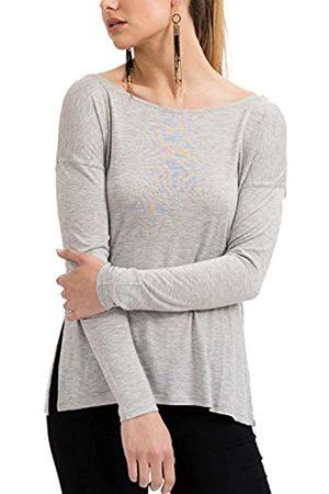 Trueprodigy Casual Damen Marken Long Sleeve einfarbig Basic Oberteil Cool Stylisch Rundhals Langarm Slim Fit Langarmshirt für Frauen, Größe:XL