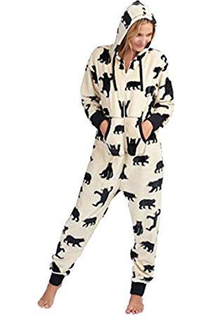 Hatley Little Blue House by Damen Bear Family Fuzzy Fleece Hooded Pyjama Set Medium