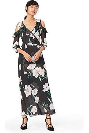 TRUTH & FABLE Amazon-Marke: Damen Maxi-Blumenkleid, 34