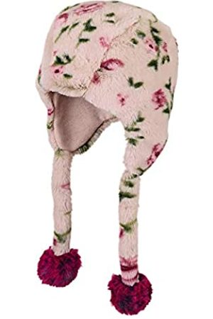 Sterntaler Inka-Mütze für Mädchen aus Fellimitat mit Blumen-Motiv, Alter: 4-6 Jahre, Größe: 55