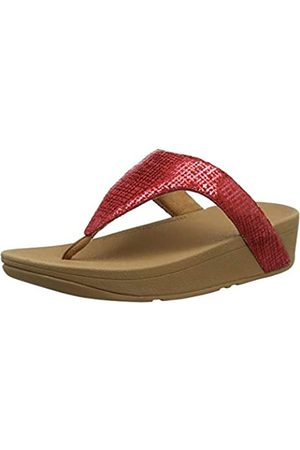 FitFlop Damen Lottie Chain Print Zehentrenner, (Adrenaline Red 678)