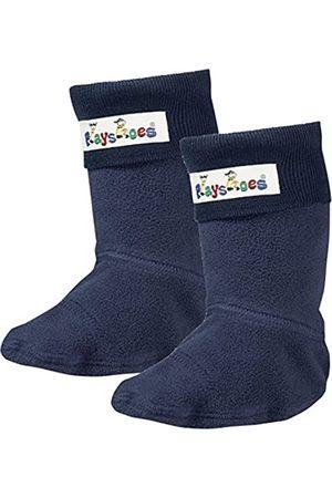 Playshoes Mädchen Fleece-Stiefel Socken, (Marine)