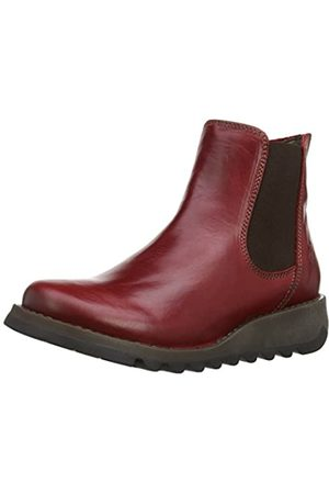 Fly London Damen Salv Chelsea Boots, (Red 004)