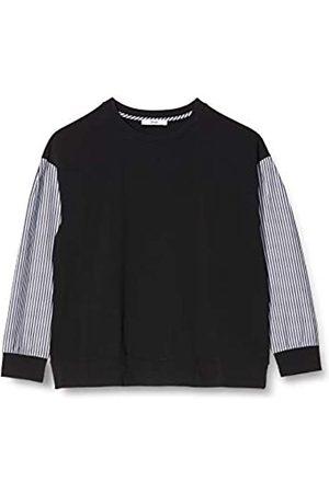 FIND Amazon-Marke: Damen Sweatshirt mit gestreiften Ärmeln, 36