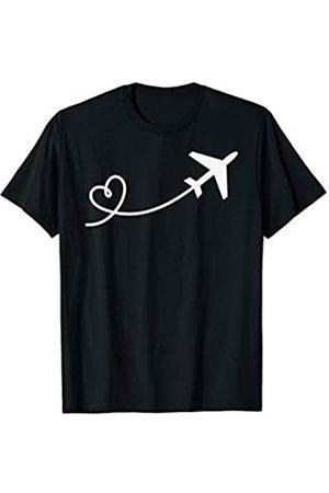 Urlaub Fliegen Reisen Geschenke von Simsalapimp Flugzeug Flieger Flug Fliegen Reisen Reise Herz Geschenk T-Shirt