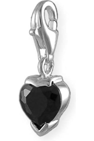 Melina Damen-Charm Anhänger Herz Black 925 Sterling Silber 1800769