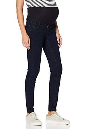 Love2wait Damen Umstands Jeans, - Blue (Dark Wash)