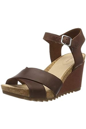Clarks Damen Flex Sun Slingback Sandalen, (Tan Leather Tan Leather)