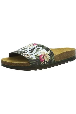 THE WHITE BRAND Herren Bio Beach Peeptoe Sandalen, Mehrfarbig (Jungle Jungle)