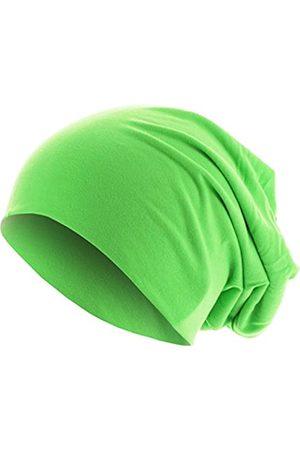 MSTRDS Unisex Erwachsene Jersey Beanie Strickmützen,per Pack Grün (Neongreen 3422)