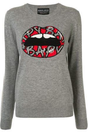 BAPY Damen Strickpullover - Lips' Intarsien-Pullover