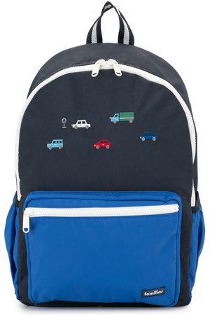 Familiar Rucksack mit aufgestickten Autos