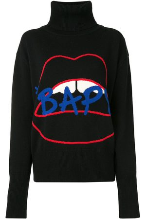 BAPY BY *A BATHING APE® Damen Strickpullover - Lips' Intarsien-Pullover