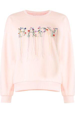 BAPY BY *A BATHING APE® Damen Sweatshirts - Sweatshirt mit Blumenstickerei