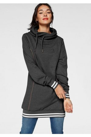 alife kickin Sweatshirt »JilAK« sportiver Hoodie mit Kontrastbündchen & Details in Lederoptik