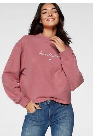 Herrlicher Sweater »OTINA« mit Logo-Statement-Print