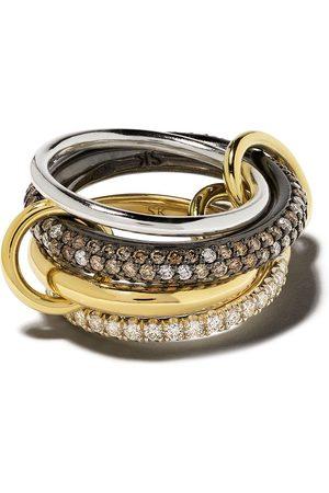 SPINELLI KILCOLLIN 18kt 'Vega CCW' - und Sterlingsilberring mit Diamanten