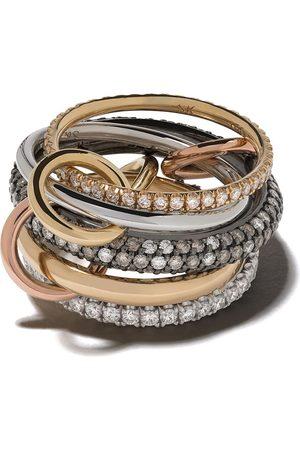 SPINELLI KILCOLLIN Damen Ringe - 18kt 'Leo CCW' - und Silberring mit Diamanten