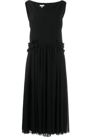 Delpozo Damen Cocktailkleider - Kleid mit V-Ausschnitt