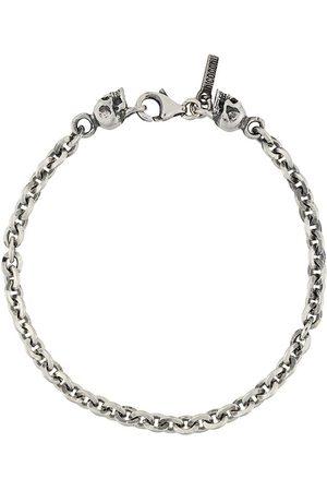 EMANUELE BICOCCHI Armband mit Totenköpfen