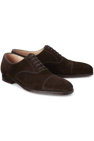 Crockett & Jones Herren Schnürschuhe - Schnürschuh Hallam in dunkelbraun, Business-Schuhe für Herren