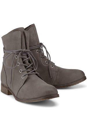Cox Damen Schnürstiefel - Schnür-Boots in dunkelgrau, Boots für Damen