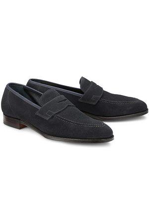Crockett & Jones Herren Halbschuhe - Penny-Loafer Teign in dunkelblau, Slipper für Herren