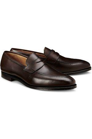 Crockett & Jones Herren Halbschuhe - Penny-Loafer Sydney in dunkelbraun, Slipper für Herren