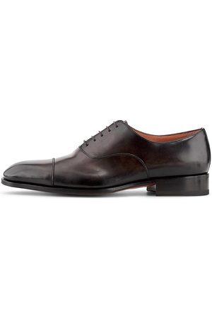 santoni Herren Elegante Schuhe - Oxford-Schnürer Carter in dunkelbraun, Business-Schuhe für Herren