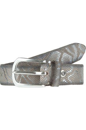 B.belt Ledergürtel mit Metallic-Schlangenprint
