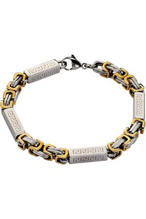 Firetti Herren Armbänder - Armband in Fantasiekettengliederung mit Mäander-Muster