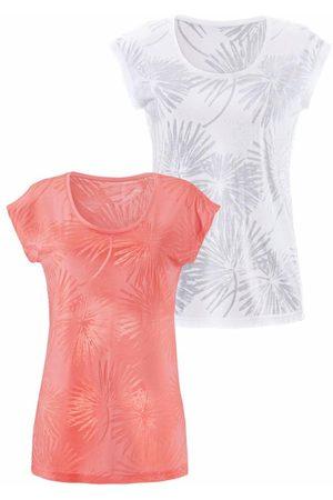 beachtime Beachtime T-Shirts (2 Stück) in Palmen-Ausbrenner-Optik