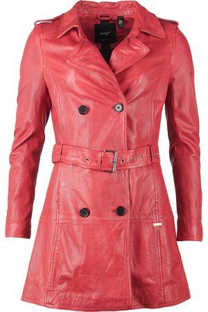 Maze Damen Lederjacken - Lederlangjacke mit Hüftgürtel ' Culima