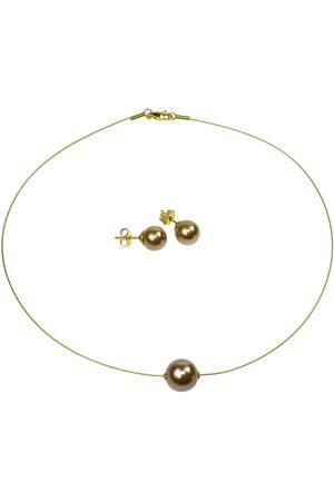 Perlas Orquidea Perlenkette 'The Floating Pearl Brown Set