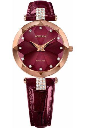 JOWISSA Damen Uhren - Quarzuhr 'Facet Strass