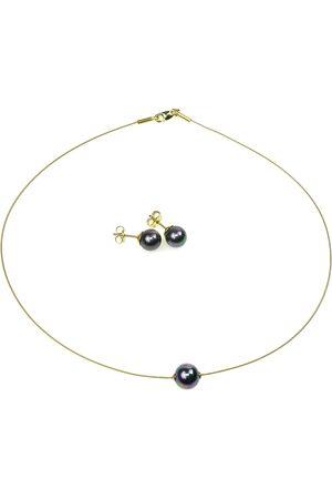 Perlas Orquidea Perlenkette 'The Floating Pearl' Black Set