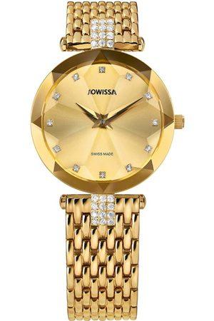 JOWISSA Quarzuhr 'Facet Strass' Swiss Ladies Watch