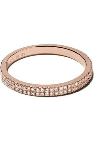 EF Collection 14kt Rotgoldring mit Diamanten