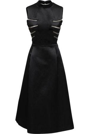 NOIR KEI NINOMIYA Satin Dress W/ Metal Details