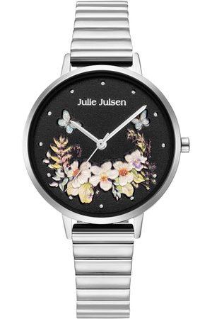 Julie Julsen Quarzuhr » Secret Garden , JJW1198SM« (Set, 2 tlg., Uhr mit Meshband inkl. Wechsellederband und Geschenksbox)
