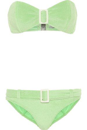 Lisa Marie Fernandez Bikini Buckle aus Frottee