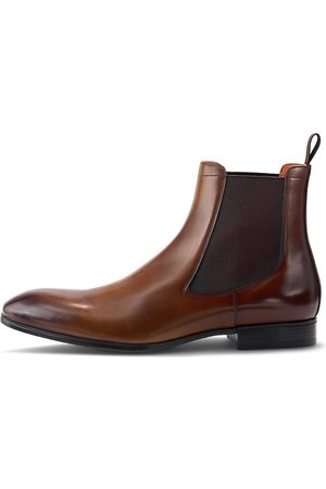 santoni Chelsea-Boots in mittelbraun, Boots für Herren