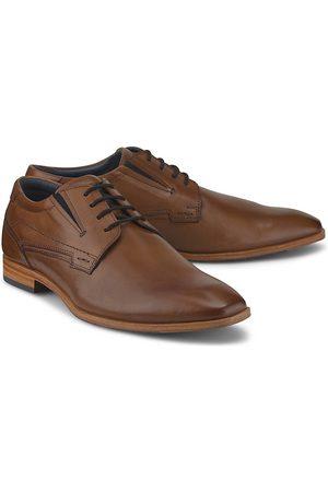 Cox Herren Schnürschuhe - Derby-Schnürschuh in mittelbraun, Business-Schuhe für Herren