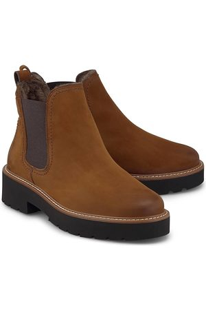 Paul Green Damen Stiefeletten - Winter-Chelsea in mittelbraun, Boots für Damen