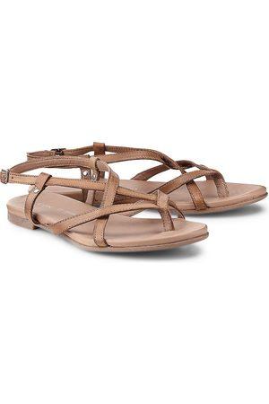 Cox Riemchen-Sandale in mittelbraun, Sandalen für Damen