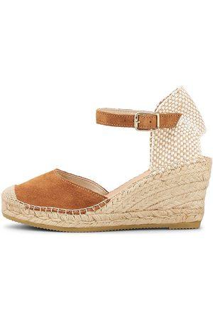 Vidorreta Keil-Sandalette in mittelbraun, Sandalen für Damen